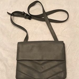 French connection gray crossbody